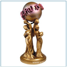 Bronze Life Size The World Is Yours Statue